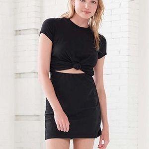 Silence + Noise black t shirt knot dress